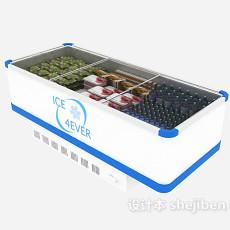 超市大冰箱3d模型下载