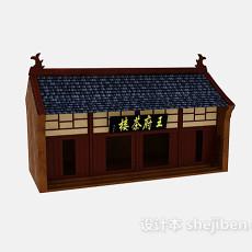古建茶楼3d模型下载