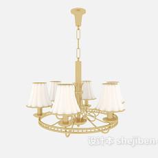 欧式吊灯家具3d模型下载