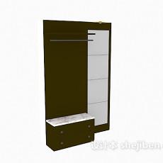 鞋柜屏风3d模型下载