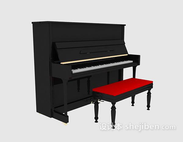 钢琴模型 3d模型下载