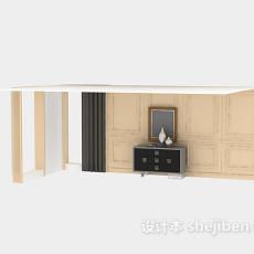 新古典中式玄关厅柜3d模型下载