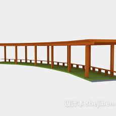 古建廊3d模型下载