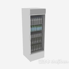 敞开式冰箱3d模型下载
