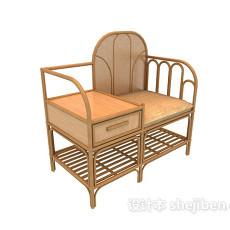 藤编椅子3d模型下载