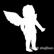 小天使雕塑3d模型下载
