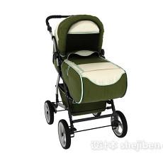 婴儿车3d模型下载