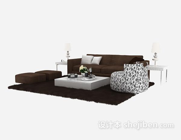 简洁雅致现代中式沙发组合