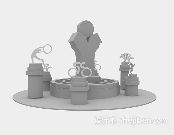 春节年货超市货架3d模型