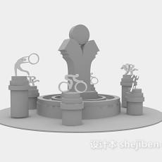 春节年货超市货架3d模型下载