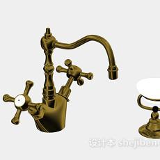 欧式古典水龙头3d模型下载