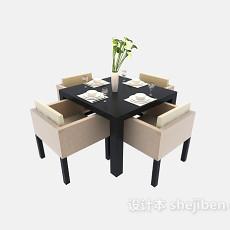 甜品店餐桌3d模型下载