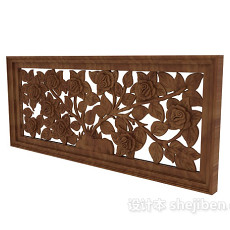 雕花石膏装饰板3d模型下载