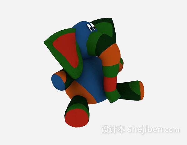 儿童玩具象模型 3d模型下载