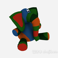 儿童玩具象 3d模型下载
