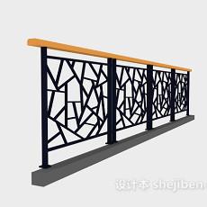 栏杆护栏3d模型下载
