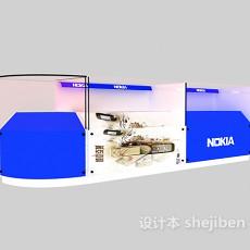 商场玻璃展示柜3d模型下载