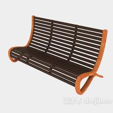 公园椅子3d模型下载