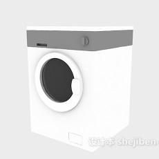 洗衣机-滚筒洗衣机3d模型下载