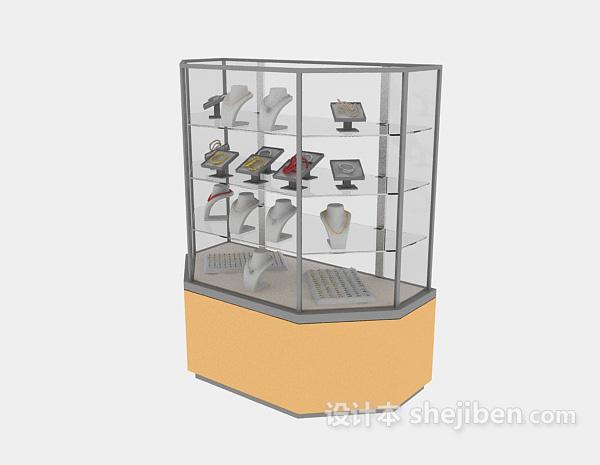 超市珠宝货架模型