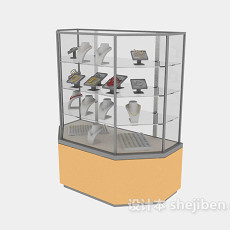 超市珠宝货架3d模型下载