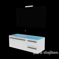 木质洗手台3d模型下载