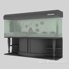 中式鱼缸3d模型下载