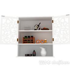装饰柜3d模型下载