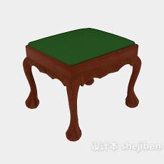 欧式换鞋凳子3d模型下载