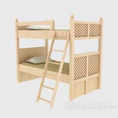 学校寝室上下床3d模型下载