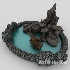 假山石头3d模型下载
