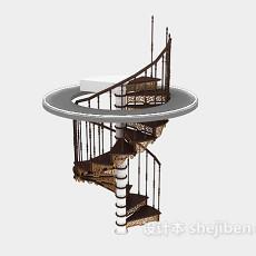 旋转楼梯3d模型下载