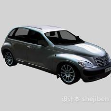 银色小轿车 车3d模型下载
