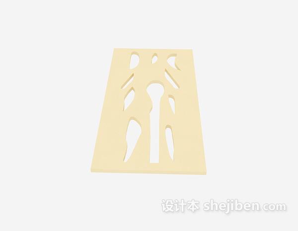 现代客厅隔断3D模型6