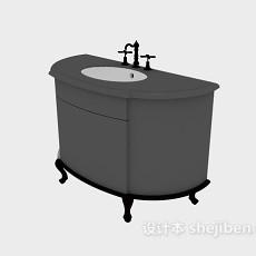 欧式洗手盆台盆3d模型下载