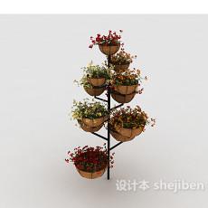 铁艺花架3d模型下载