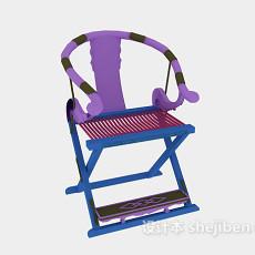 新中式书房椅子家具3d模型下载