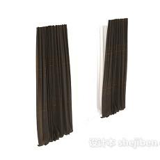 灰色现代窗帘max窗帘3d模型下载