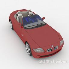红色敞篷max汽车3d模型下载