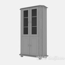铁皮文件柜3d模型下载