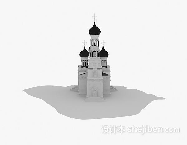 室外建筑模型下载_欧式城堡建筑3d模型下载-设计本3D模型下载