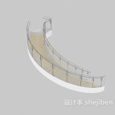 扶手楼梯3d模型下载