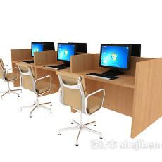 办公室桌椅3d模型下载