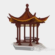 公园凉亭3d模型下载