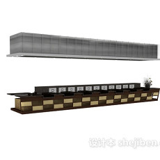 酒吧酒柜3d模型下载