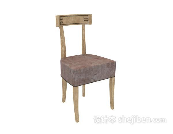 中式风格3d椅子模型下载
