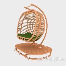 藤吊椅3d模型下载