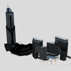 玻璃幕墙高层建筑3d模型下载