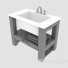 拖布池3d模型下载
