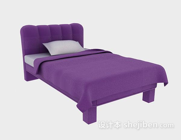 现代单人床床的